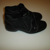 Осенние кожаные ботинки Rieker, р 40 (в идеале на 39,5 ), стелька 25,7 см удобно одеваются -молния с