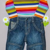 Комплект джинсы George + боди Next 3-6 мес.