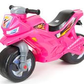 Музыкальный мотоцикл Орион розовый 501 каталка байк