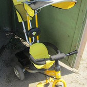 детский велосипед трёхколёсный с крышей