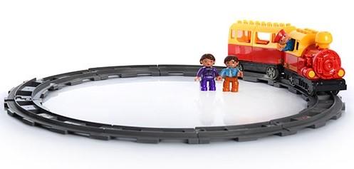 Конструктор jixin детская железная дорога веселый паровозик 6188d фото №1