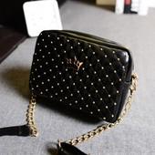 3-85 Женская сумка Crown/ Клатч/ Женская маленькая сумочка/ Черная сумочка