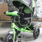 Трехколесный велосипед Tilly Camaro T-362 Air с фарой, зеленый