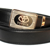 Черный мужской ремень пояс автомат (Toyota)