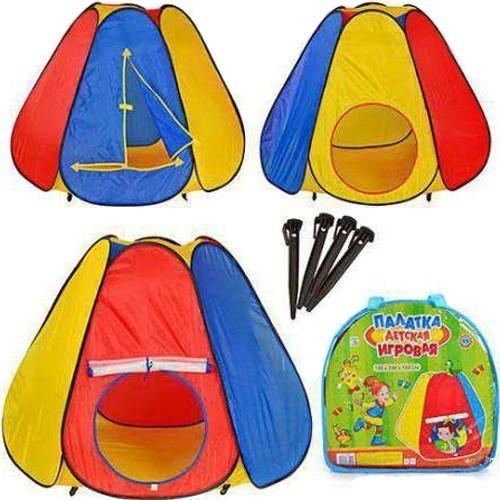 """Детская игровая палатка-пирамида 0506 """"6 граней"""": 144х244х104см фото №1"""