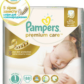 Подгузники Pampers premium care 1 ( 84 из 88 шт.)