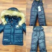 Куртка зимняя с опушкой.92-104см.