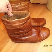 фирменные зимние кожаные сапоги 41 р UK 8 Salamander