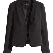Стильный пиджак Н&М р. S блейзер черный