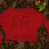 Модная укороченая футболка с рукавами