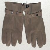 кожаные мужские перчатки новые