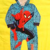 Теплая пижама слип человечек на ребенка 1,5-2 года, 86-92см,George