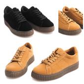 Женские ботинки криперы на толстой подошве