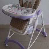 Стульчик для кормления вашего малыша Tilly сarrello сaramel CRL-9501