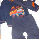 флисовые мягкие штанишки на 1-2 года