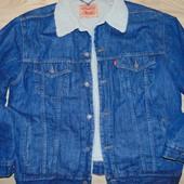 Фирменная оригинал брендовая джинсовая курточка оригинал  Levi's (Левис)хл .