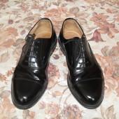 Английские кожаные туфли-оксфорды 41 размера 26 см стелька