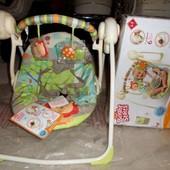 Новые!Bright Starts Детские качели Сафари с музыкой Забота и нежность