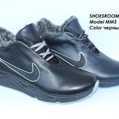 Зимние кожаные кроссовки, 2 цвета