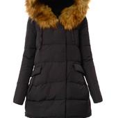 Женский зимний пуховик куртка с капюшоном