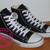 Высокие Кеды в стиле Converse черные