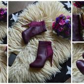Новые ботинки цвета марсала р-р 38