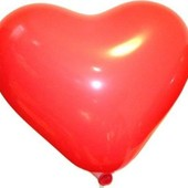 Воздушные шарики шар Сердце 25 см 10 красные большие Италия повітряні кульки серце великі праздник