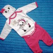 Комплект для новорожденных на рост 52-56 56-62 62-68