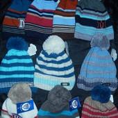 Зимние шапки на мальчиков 2-7 лет 48-54 р-р на флисе,разные модели