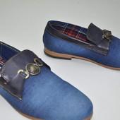 Мокасины туфли джинсовые