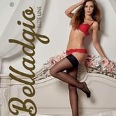 Шелковистые женские чулки с ажурной каймой на силиконе Flirt 40 Belladgio (Украина)