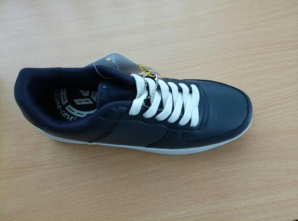 Кожанные кроссовки,т.синие.41-45 фото №2