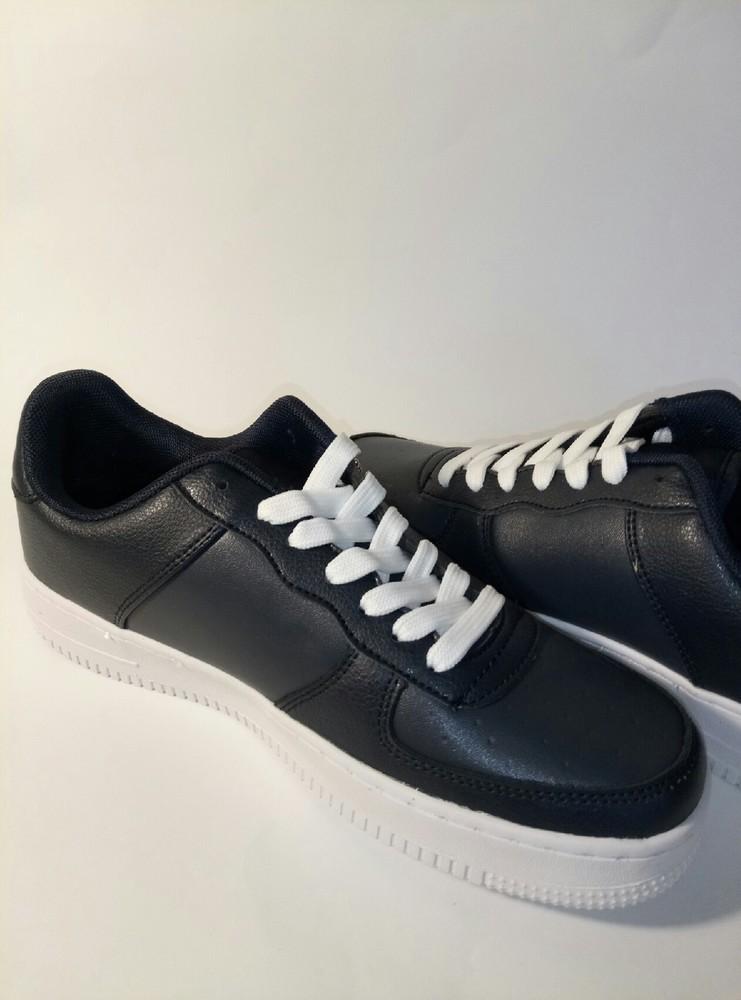 Кожанные кроссовки,т.синие.41-45 фото №3