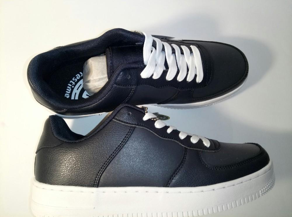 Кожанные кроссовки,т.синие.41-45 фото №4