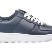Кожанные кроссовки,т.синие.41-45