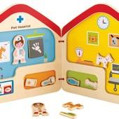 Книга-домик с магнитами «Ветеринар», Hape (E3016)