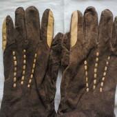 Мужские  перчатки из  натуральной  замши  бренда oviesse.