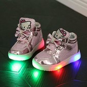 14.5см остались Кроссовки Hello Kitty, мигающие с LED подсветкой светящиеся