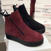 Ботинки замш зима love
