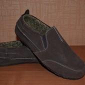 утеплённые туфли замша 26,5 см