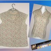 Atmosphere-хлопковая блузка,цветочный принт 48-50-52 р