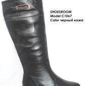 Женские кожаные сапоги, кожа, замша, осень, зима