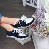 Замшевые туфли Коллинз-3 в спортивном стиле на шнурках в наличии