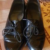 туфли черные лаковые Footglove Размер 38,5 стелька 25,5 см.