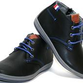 Детские демисезонные ботинки для мальчика, Польша, размер 31-36, 2 цвета