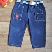 Плотные джинсы р. 80 с пояском
