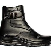Мужские зимние ботинки на меху классические (ЮК-7)