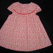платье Cherokee 9-12 мес 100% х/б состояние нового