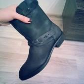 демисезонные ботинки mango кожа