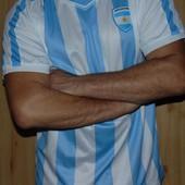 Фирменная спортивная футбольная футболка Victory .Зб Аргентины /.хл